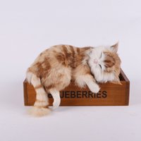 Wholesale Simulated Cat The Living Room Home Furnishing Pendant Jewelry Ornaments Birthday Gift Simple And Realistic Animal toy Doll Crafts