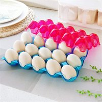 Wholesale Novelty Plastic Eggs Storage Container Kitchen Stack Up Space Saving Dispenser Box For Refrigerator Fridge Organizing