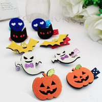 baby icon - Hot Sale Seasonal Party Hair Accessories C Fashion Glitter Felt Halloween Icon Baby Kids Hairpins Cute Barrettes