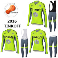 bicycle wear - 2016 Tinkoff saxo bank cycling jerseys winter thermal fleece cycling clothing fluo yellow mtb bike clothes sport wear bicycle winter long
