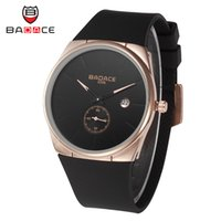 battery tape - New Arrival Pu Tape Luxury Style Watch Men Watches Business Fashion BADACE Pointer Round Quartz Watch