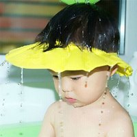 Wholesale Safe Soft Kids Children Shampoo Bath Shower Cap Hat infant Wash Hair Waterproof Shield