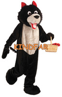 Wholesale WOLF MASCOT ADULT COSTUME Little Red Riding Hood Theme Party Halloween Cool Cute Cartoon Outfit Suit