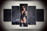 Wholesale 5Pcs With Framed Printed batman catwoman Painting children s room decor print poster picture canvas canvas art nude