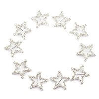 Wholesale Hot Star Rhinestone Buckle For Ribbon Slider Invitation Wedding Supplies New