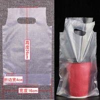 Wholesale High Quality Drink Coffee Maga Bags Thicken Milk Tea Takeout Bags Packing Bags Plastic Bag