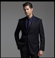 Wholesale 100 Wool gentleman style custom made Men s suits tailor suit Blazer suits for men groom tuxedos DHL Shipping