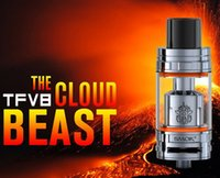 Cheap SMOK TFV8 Tank Full Kit Clone 6.0ML Top Refill Sub Ohm Tank Airflow V8-T8 V8-Q4 Coil Head Upload TFV4 Tank with Black SS VS Cubis Pro Tank