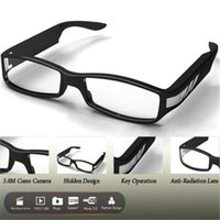 Wholesale Fashion Megapixel HD x1080P Resolution Eyeware Glasses DVR Camera Covert Video Recorder Mini DV Protable Security Camcorders