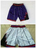 Wholesale Toronto Basketball Shorts Toronto Vince Carter Tracy Mcgrady Kyle Lowry Demar DeRozan White Purple Throwback Basketball Shorts