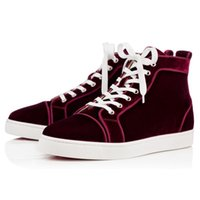 background fall - Original Box Top Luxury Brand Red Bottom Sneakers Louiorlato Orlato Comfortable Suede Red Background Shoes Sole Men Women Party Shoes