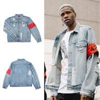 Cheap hip hop mens clothes brand clothing fear of god FourTwoFour 424 spring summer women rockstar jeans designer ripped denim jacket