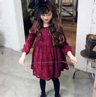 Wholesale 2016 Autumn Spring Child Kids Girls Lac Long Sleeve Princess Cute Beautiful Child Dress Princess Dress5 A