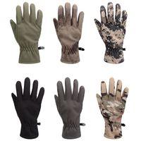 Wholesale Warm Outdoor Tactical Gloves Shark Skin Soft Shell Camouflage Gloves Waterproof Windproof Fleece Floves
