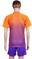 Wholesale 2017 Soccer Jerseys Uniform Club Team Jersey Man City Third Jersey Orange Purple S M L XL Mix Match Order Customs Jersey Shirts And Shorts