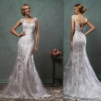 best western shirts - Wedding Gowns Best Western Open Back Cap Sleeves Lace Bridal Dresses Mermaid Trumpet Couture Dress For Brides