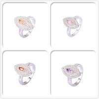 Wholesale Imitation Rhodium Plated Rings Rin Luxury Crystal AAA CZ For Women Party Gift Fashion With Jewelry Halloween Copper Hot Sales