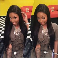 Wholesale Silk Straight Brazilian Human Hair Glueless Front Lace Wigs For Black Women With Baby Hair Density Full Lace Wigs