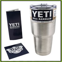 Wholesale 30 oz Yeti Cups Cooler Stainless Steel YETI Rambler Tumbler Cup Car Vehicle Beer Mugs Double Wall Bilayer Vacuum Insulated Drop Shipping
