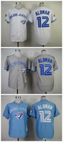 baby blue jays - 2015 New Toronto Blue Jays Baseball Jerseys Roberto Alomar Authentic Stitched Jersey White Baby Blue Gray