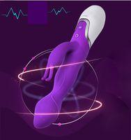 Cheap Multi-Speed double Vibrator Stimulators G spot Rabbit Vibrator AV Stick Female Double Masturbation Waterproof Clitoris sex toys for women