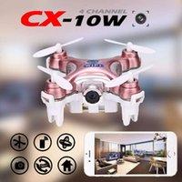 Wholesale 2016 Cheerson CX W Drone Quadcopter RC Quadcopter Nano Wifi Drone with Camera P FPV AXIS GYRO Mini Drone
