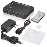 Wholesale 5 Port P HDMI Switch Splitter Adapter HD INPUT OUTPUT for PS3 Xbox slim Sky HD Freesat HD Virgin Bluray