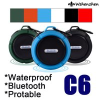 Wholesale Bluetooth Wireless Speaker Outdoor Sport Portable C6 Mic TF Waterproof Player Audio FM Mini Speaker Bluetooth