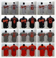 Wholesale New Material FLEXBASE Baltimore Orioles Cal Ripken Adam Jones Manny Machado Baseball Jersey Size