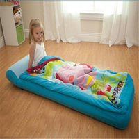 Wholesale Genuine INTEX children thickening inflatable mattress single air bed with sleeping bag Storage bag