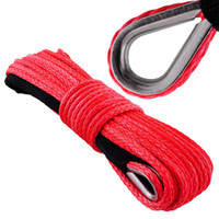 atv sellers - quot x Hot Seller Red UHMWPE Synthetic Winch Rope With Hook For x4 ATV UTV SUV offroad Recove