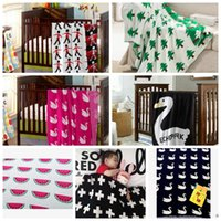 korean style blankets - LJJL215 INS Children Soft Sofa Bedding Sleep Blanket Cotton Cute Knit Bed Blanket Styles Pieces
