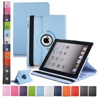 Wholesale 360 Rotating Leather Stand Case Cover for iPad Air Mini Retina Pro Galaxy Tab A t550 T350 E T560 by dhl