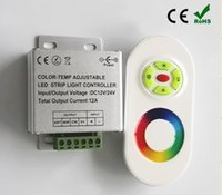 Wholesale DC12V W Changeable Color Light Controller Electromagnetic Remote Light Controller with RF Touth Remote Control For Indoor RGB LED Lights