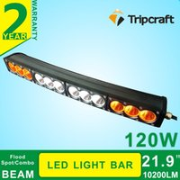 amber tractor lights - New Style W AMBER LED OFF ROAD LIGHT BAR for trucks tractor ATV spot flood combo offroad X4 curved led light bar