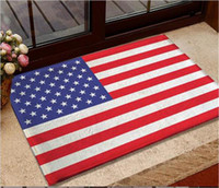 Wholesale 9 Kinds Flannel anti skid carpet cm Australia USA UK Germany Canada Flag Doormat Flag Bedroom Carpet Flag Mats Door Rug Best Quality