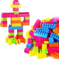 Wholesale 80Pcs Plastic Children Puzzle Educational Building Blocks Bricks Toy Animal A00040 SMAD