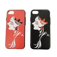 art phone covers - VODEX iphone P frosted hard shell relief art small fresh girl iphone6s P mobile phone computer fully protection fashion back cover