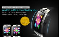 arc windows - Newest NFC Smart Watch Q18 Arc Clock With Touch Screen Camera SIM Card Bluetooth Smartwatch for iPhone IOS Android Sport Watch