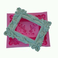 baking pictures - Exquisite picture frames cooking tools fondant DIY cake baking Silicone Chocolate decoration sugar candy fimo clay