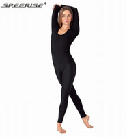 Wholesale Adult Scoop Neck Long Sleeve Unitard Lycra Spandex Unitard Bodysuit Nylon Gymnastic Leotard Dance Costumes Exercise Ballet Yoga