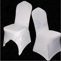Wholesale 200pcs CCA4085 High Quality Universal White Polyester Spandex Wedding Chair Covers For Weddings Banquet Folding Hotel Decoration Chair Cover