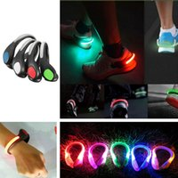 Wholesale LED Running Cycling Bicycle Luminous Shoe Clip Light Night Warning LED Flash Lamp Safety Reflective Light