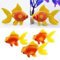 Wholesale 3pcs Aquarium Fish Tank Plastic Swimming Faux Fake Gold Fish Decoration Ornament