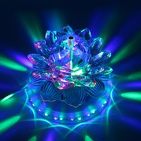 bead wholesalers uk - LED Stage Effect Light Auto Rotating W LED RGB Crystal Ball Stage Light Bead Lamp for Home Decoration DJ Disco Bar