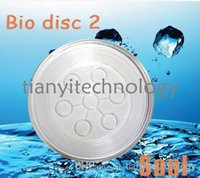 Wholesale Health Care Glass Bio Disc Scalar Zero Point Energy Round Clear Glass Disc With Negative Ion Energy pyramidal Anion pyramid Energy Disc