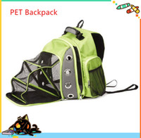 backpack dogs - 2016 New Pet bags pet double shoulder bags portable pet backpacks dog cat backpacks expanded pet bags