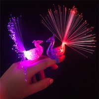 Wholesale LED Peacock Finger Lamp Toys Led flashing Light up helicopter ring lights led flashing ring party kids toys