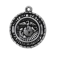 antique military jewelry - My Shape United States Marine Corps Military Charms Antique Silver Plated Fashion Jewelry Series Pendant for Necklaces Bracelets