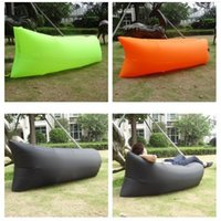 Wholesale Summer Lazy Sofas Out Doors Sleeping Chair Bag Seconds Fast Inflatable Camping Beach Sofa Hangout Air Sleep Bed High Quality